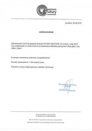 Referencje Łomianki