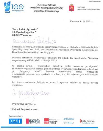 Referencje Szpital Św. Zofii